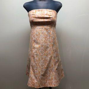 Gap stretch strapless floral A line dress SIZE 1